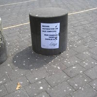 In front of the station in Amersfoort  sticked at 21-04-2012