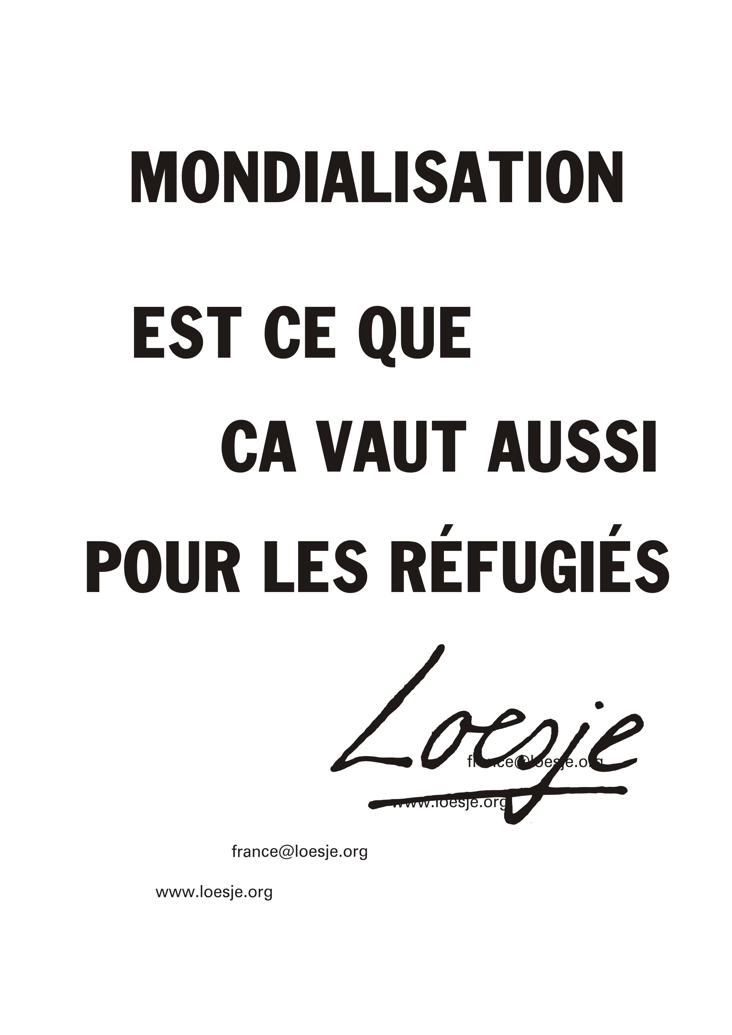 12- Mondialisation Ext ce que ca vaut aussi pour les réfugiés.