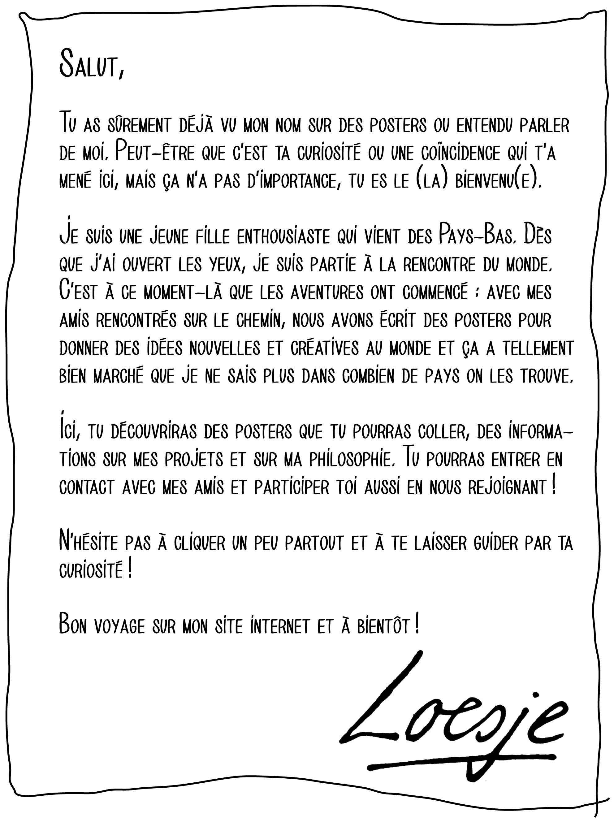lettre loesje